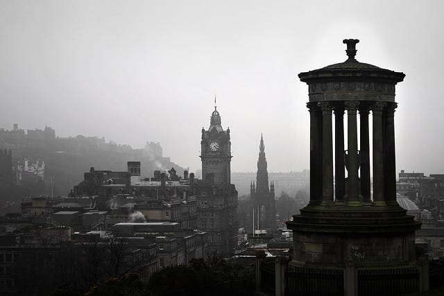 edinburgh calton hill landschaft