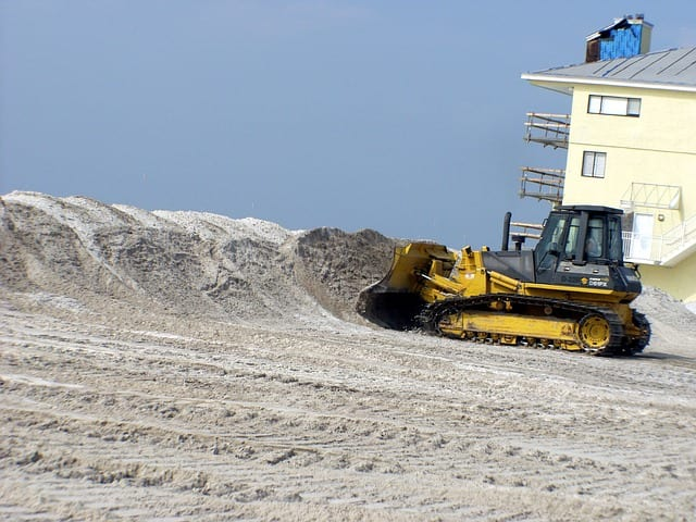 pensacola beach florida bulldozer