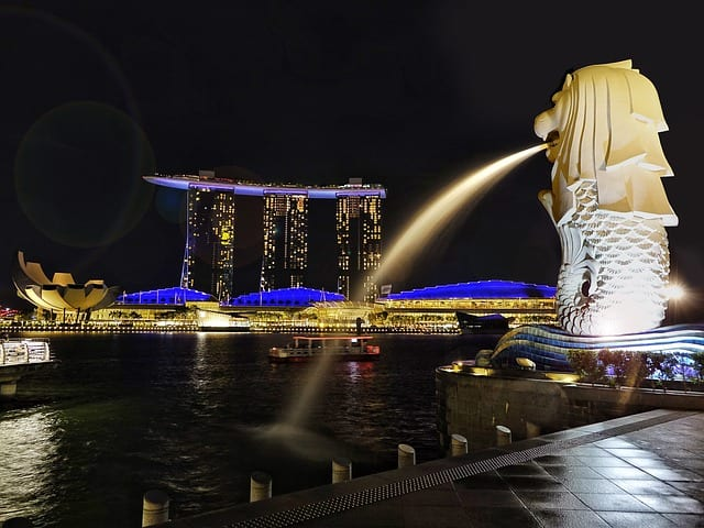 der singapore river merlion icon