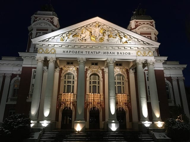 sofia bulgarien ivan vazov national theatre